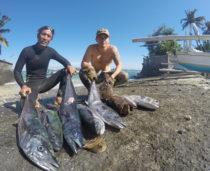 Bali Spearfishing, Spanish mackerel, Flowery cod, and Bigeye Trevally
