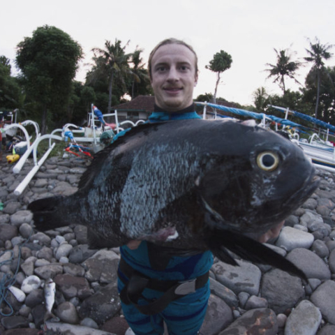 Bali Spearfishing Midnight snapper world record