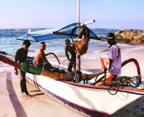 south Bali Spearfishing Outrigger