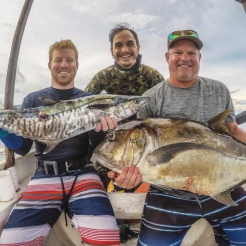 Spanish Mackerel and Giant Trevally