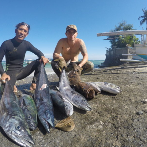 Bali Spearfishing wahoo and spanish Mackerel