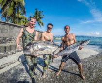 Bali Spearfishing, Spanish Mackerel, Giant Trevally