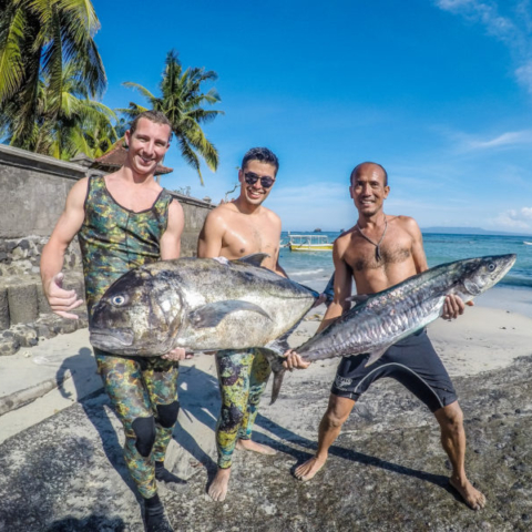Bali Spearfishing Giant Trevally and Spanish Mackerel