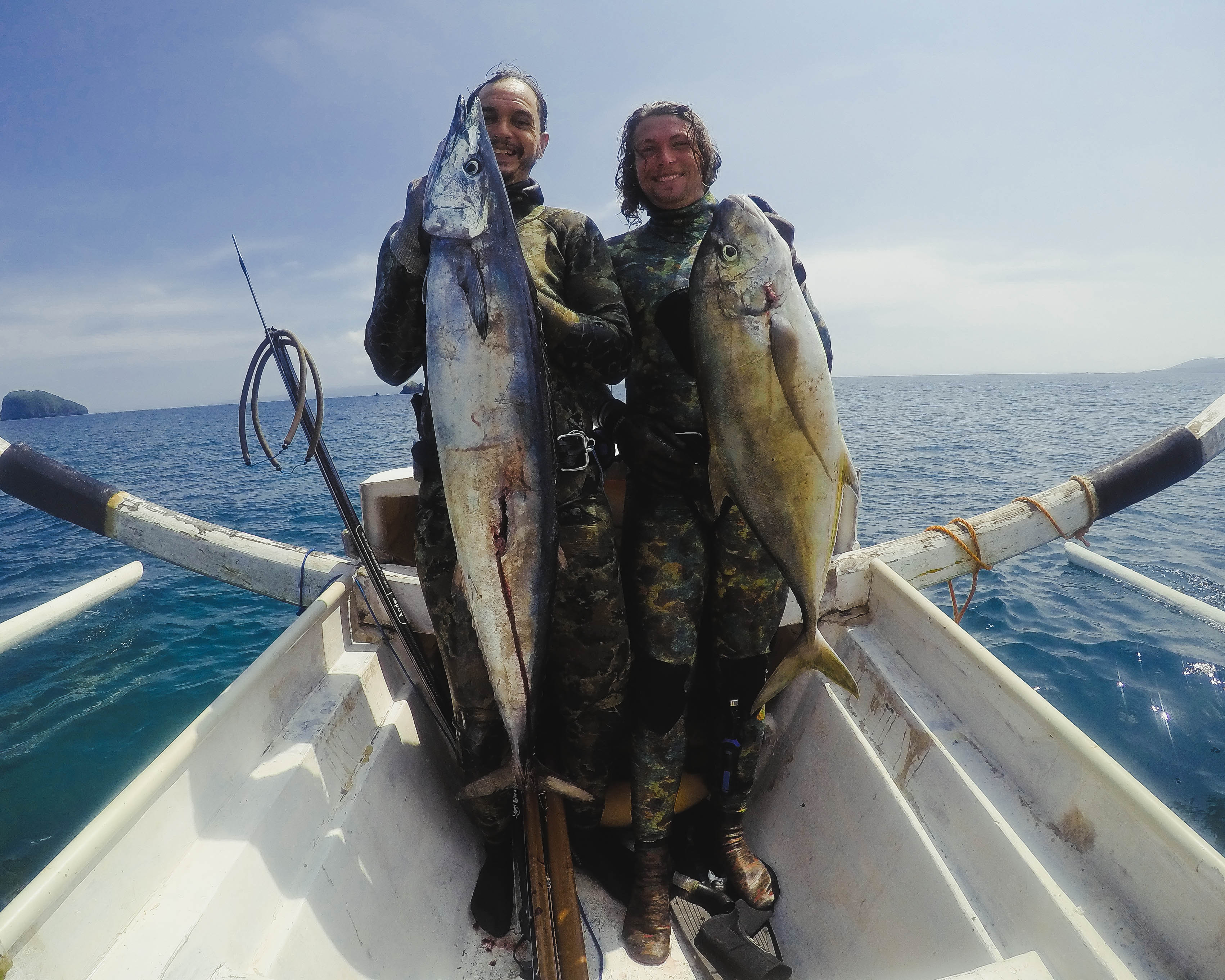 Bali Spearfishing wahoo and Golden Trevally