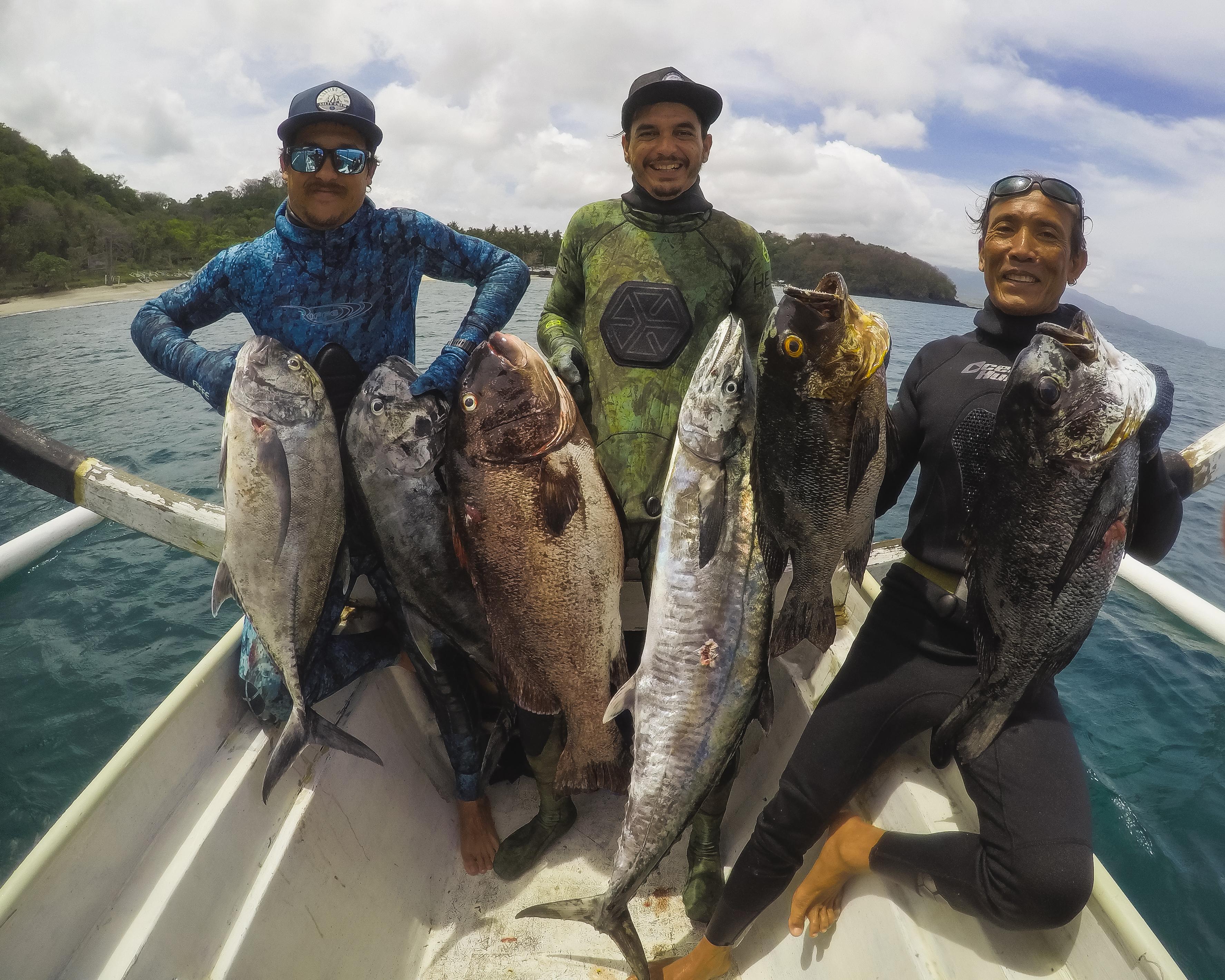 Bali Spearfishing Giant Trevally and Spanish Mackerel